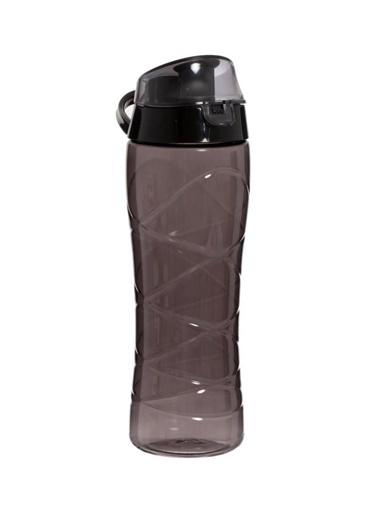Herevin Gravürlü Siyah Plastik Matara 650 ml Siyah